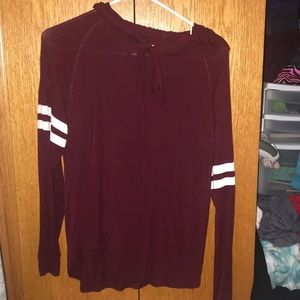 Maroon thin soft hoodie from kohl's